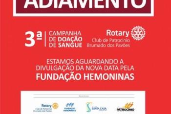 3º Campanha de Doação de Sangue é adiada