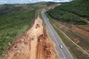 """Obras de correção na """"Curva da Morte"""" da BR-146 são iniciadas"""