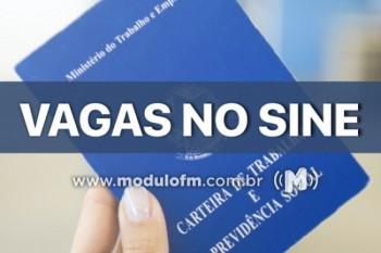 SINE de Patrocínio divulga vagas de emprego nesta sexta-feira (18/1)