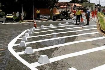 Bairro Santa Terezinha tem sistema binário implantado pela Secretaria Municipal de Segurança, Trânsito e Transportes de Patrocínio