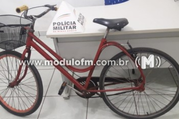 Homem é preso após furtar bicicleta em Serra do Salitre