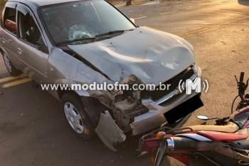 Colisão entre carro e moto deixa um ferido na...
