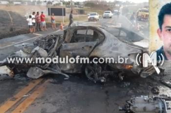 Homem morre carbonizado após grave acidente na BR-365 em Patrocínio