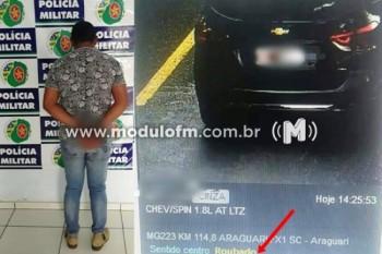 Radar identifica veículo roubado e patrocinense é preso em...