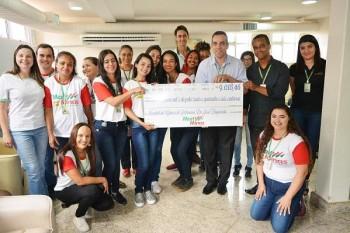 Doação da campanha Troco Solidário do MartMinas repassa 9...
