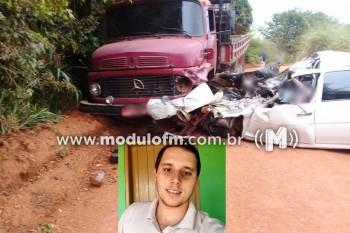 Grave acidente em estrada vicinal deixa uma pessoa morta...