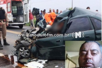 Homem morre em grave acidente na BR-365 em Patrocínio