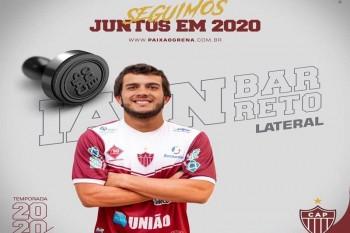 Ian Barreto espera boa atuação na temporada 2020 do Clube Atlético Patrocinense