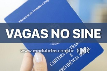 SINE divulga vagas de emprego desta segunda-feira (18/11)