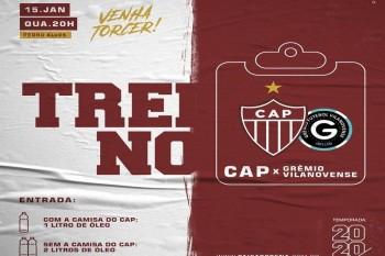 CAP realiza hoje jogo treino contra o Grêmio Vilanovense