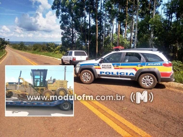 PM de Serra do Salitre recupera equipamentos agrícolas roubados em São Paulo e prende dois homens