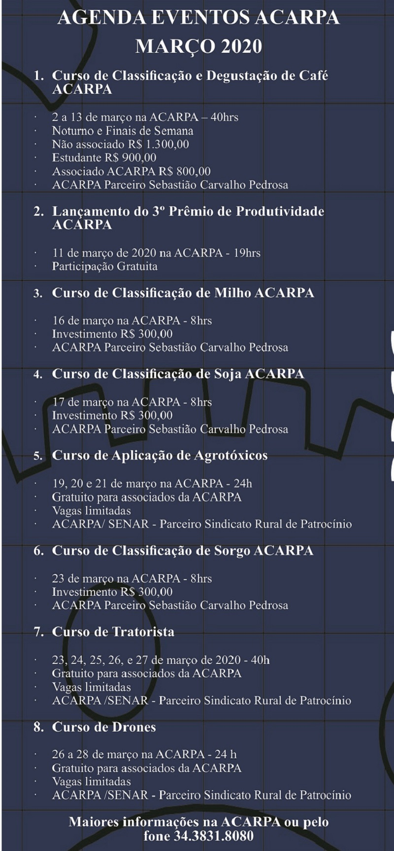 20-02-2020 - Agenda de cursos ACARPA