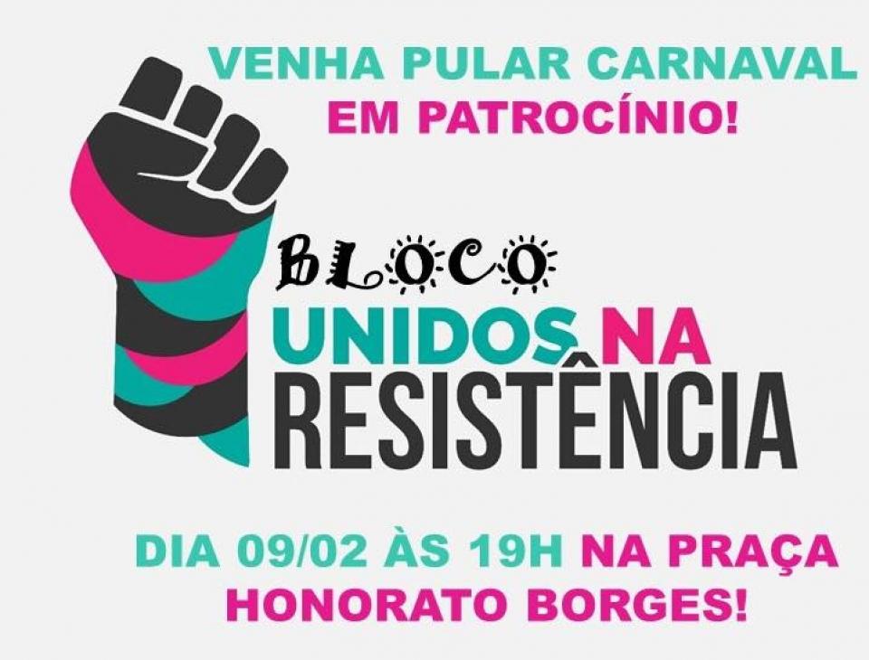 Bloco Unidos na Resistência realiza ação voltada ao Carnaval