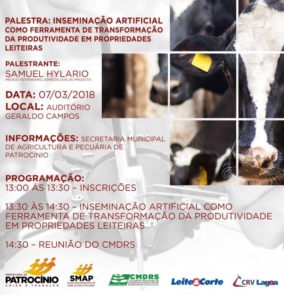 Secretaria de Agricultura promove palestra sobre inseminação artificial no rebanho leiteiro