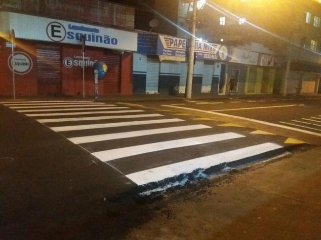 Ruas de Patrocínio tem sinalização horizontal reforçada
