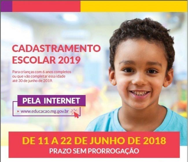 Cadastramento escolar na rede pública de ensino para 2019 começa a ser feito nesta segunda-feira