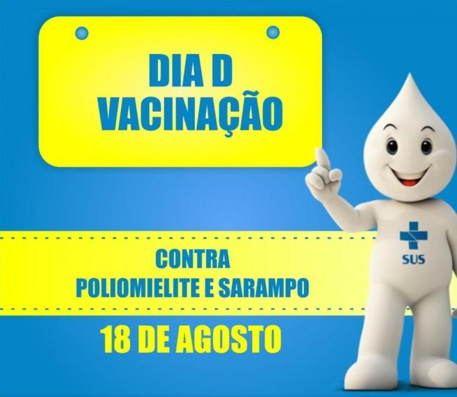 Campanha Nacional de Vacinação Contra a Poliomielite e Sarampo Tem Dia D neste sábado