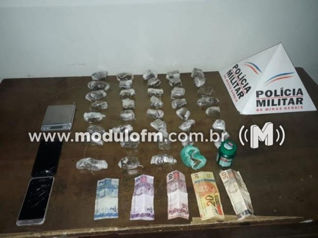Dois Homens são presos por tráfico de drogas no bairro Morada Nova
