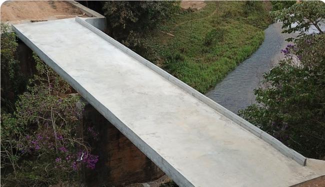 Ponte de concreto na região de Borges é inaugurada