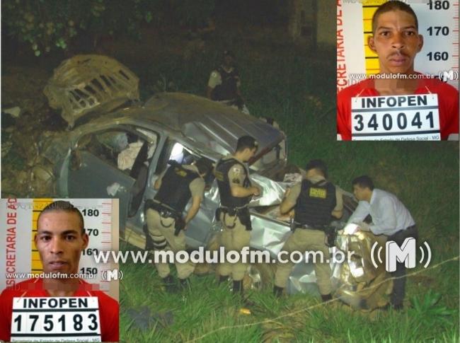 Dois criminosos morrem após perseguição policial na BR 365