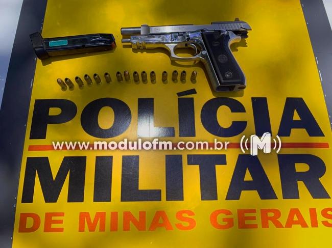 Homem é preso por porte ilegal de arma na MG 230