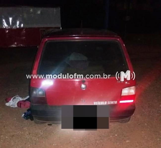 PM age rápido após assalto no distrito de Salitre de Minas, prende autor e recupera materiais roubados