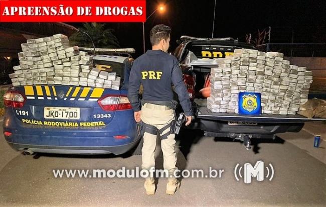 Policia Rodoviária Federal apreende grande quantidade de drogas na BR 365