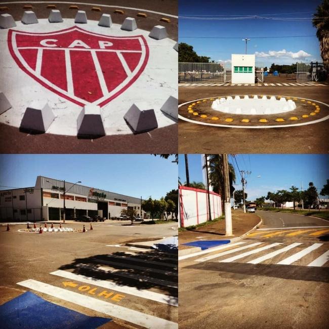 Sinalização no entorno do Estádio Municipal Pedro Alves do Nascimento é revitalizada