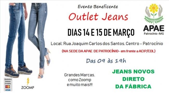 APAE de Patrocínio realizará Outlet de Jeans em março