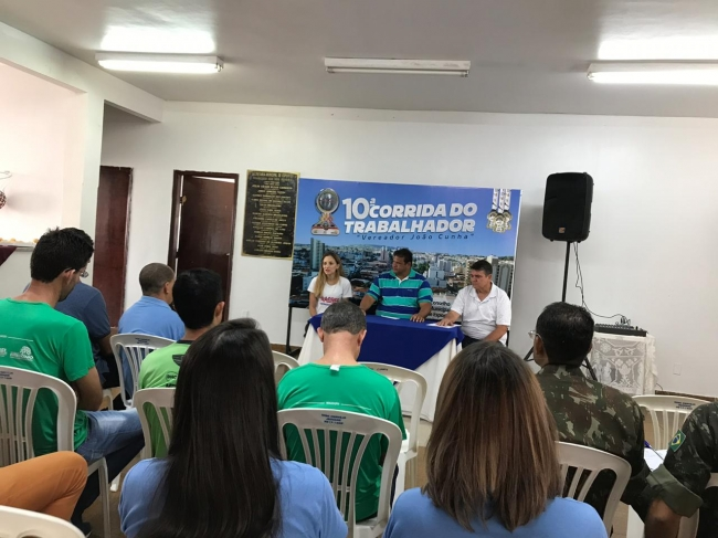 """10ª Corrida do Trabalhador """"Vereador João Cunha"""" é lançada..."""
