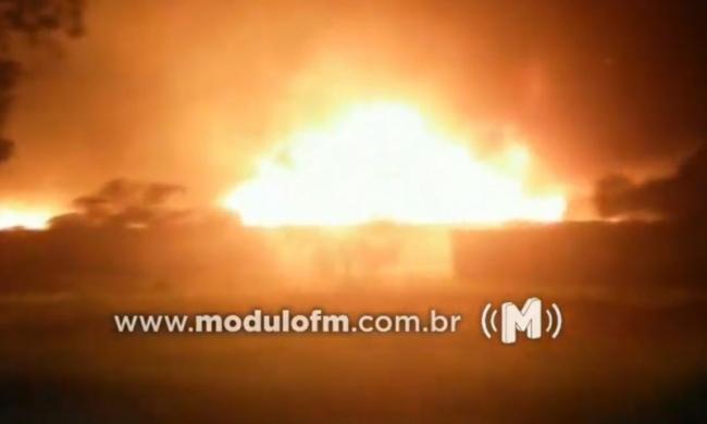 Coromandel: Mais de 100 veículos são incendiados em pátio credenciado pelo Detran