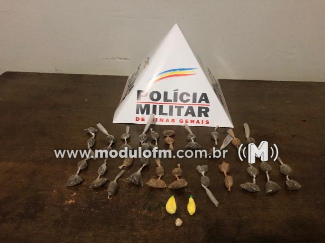 Menor de 13 anos é flagrado traficando drogas no bairro Santo Antônio