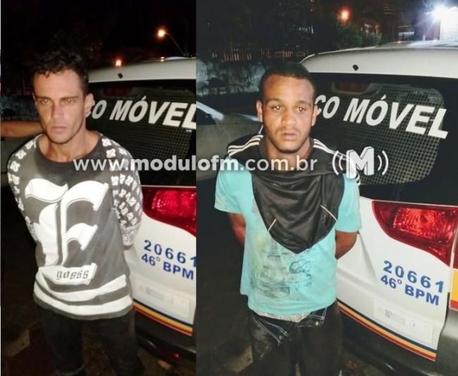 Dois homens são presos após invadirem residência e roubarem R$2,900