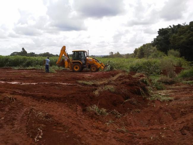 Estação de Tratamento de Água do DAEPA em São João da Serra Negra tem trabalho de terraplanagem feito