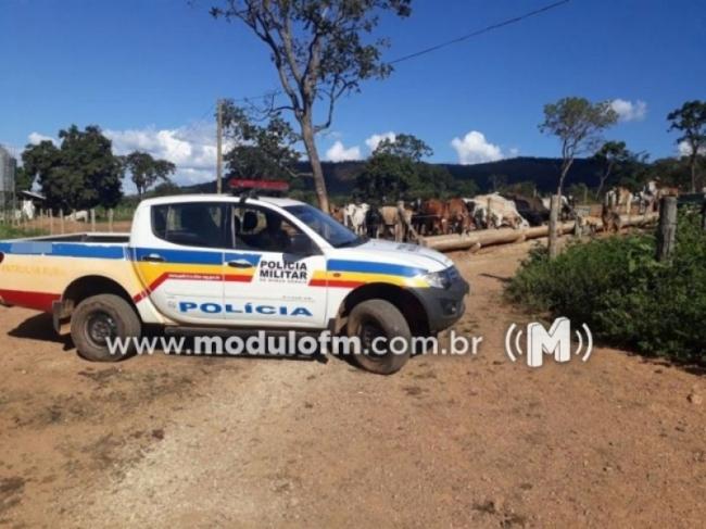 Ladrões invadem fazenda na região de Martins, amarram as vítimas e roubam dois veículos