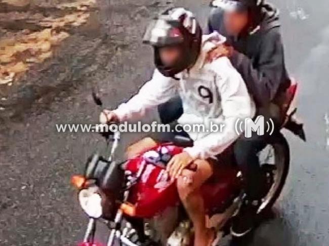Assaltante da moto vermelha ataca pedestre novamente em Patrocínio