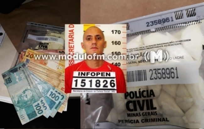 Polícia Civil prende foragido da justiça com drogas no bairro Morada Nova