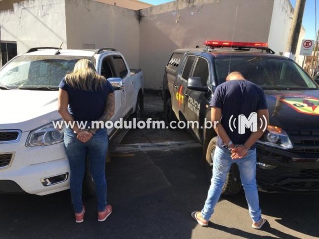 Casal é preso em Catalão com caminhonete roubada em Patrocínio