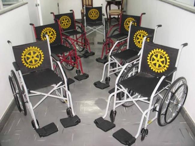 Rotary Novas Gerações registra perdas de cadeiras de rodas durante empréstimos