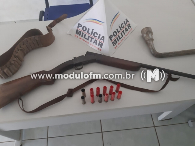 Serra do Salitre: Homem é preso por porte ilegal de arma de fogo após fazer ameaça de morte