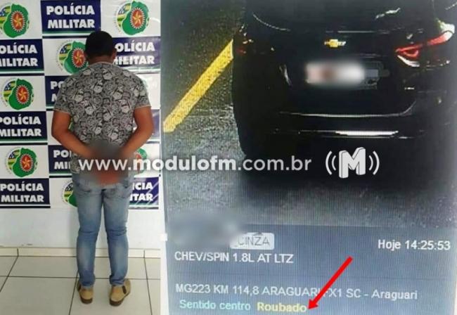 Radar identifica veículo roubado e patrocinense é preso em Goiás