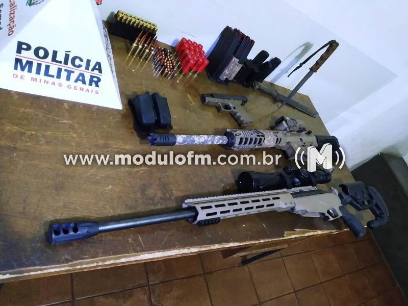 Atirador esportivo é preso pela PM por porte ilegal de arma de fogo
