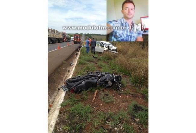 Empresário patrocinense morre em grave acidente na BR-365 próximo a Indianópolis