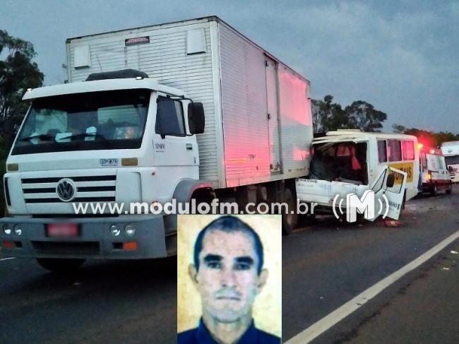 Grave acidente na BR-365 mata uma pessoa e deixa feridos, próximo a Patrocínio