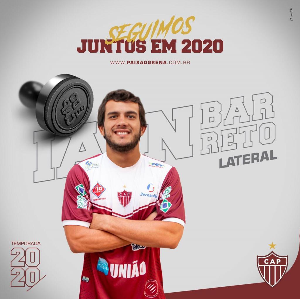 CAP confirma retorno de Ian Barreto e Betão para temporada 2020
