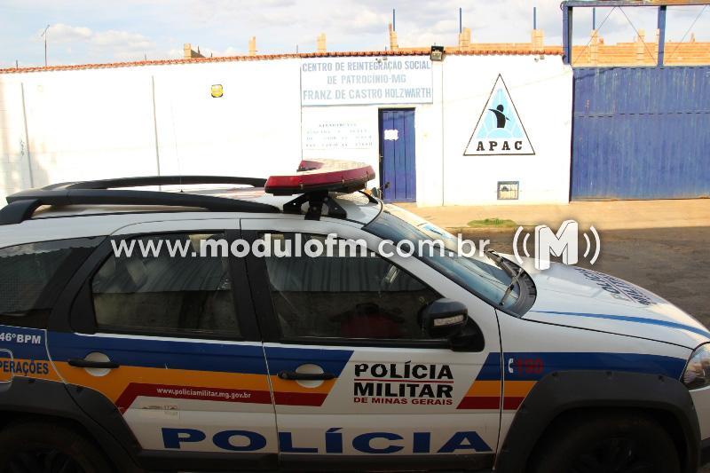 Dois presos fogem pelo telhado da APAC de Patrocínio