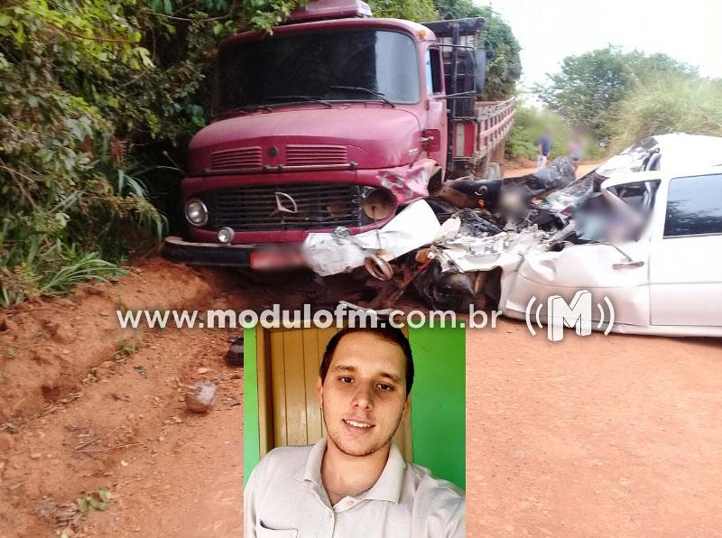 Grave acidente em estrada vicinal deixa uma pessoa morta e quatro feridas na zona rural de Monte Carmelo