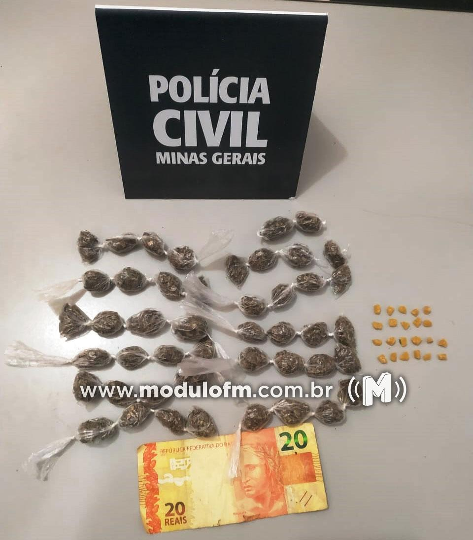Jovem de 19 anos é preso com drogas no bairro Serra Negra