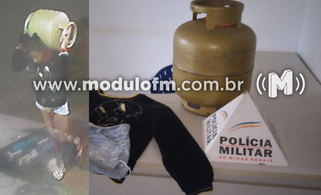 Mulher furta botijão de gás e é presa após ser identificada por câmeras