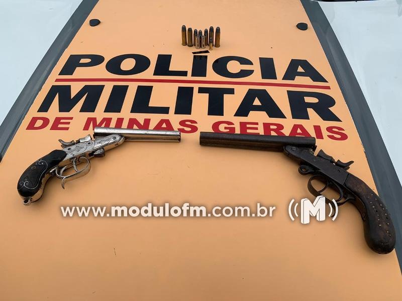 Homem é preso por porte ilegal de arma de fogo após abordagem policial na MGC-462